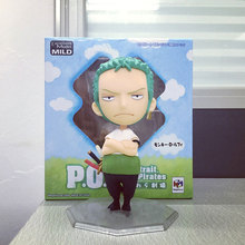 Megahouse POP Q Version Excellent Model Film Edition Japanese Anime One Piece Figures Zoro Action Figurine Collectible Boxed