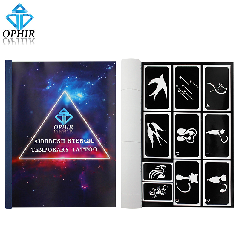 Ophir 100 designs reusable airbrush body paint template for Temporary tattoo airbrush paint