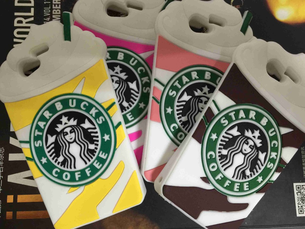 10pcs/lot For Sony Xperia Z1 Mini Compact D5503 Covers Cartoon 3D Starbucks Coffee Cup Soft Silicone Back Cover Phone Case