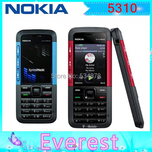 Original 5310 Nokia 5310 XpressMusic Bluetooth Java MP3 Player Phone Support Russian Keyboard Free shipping(China (Mainland))
