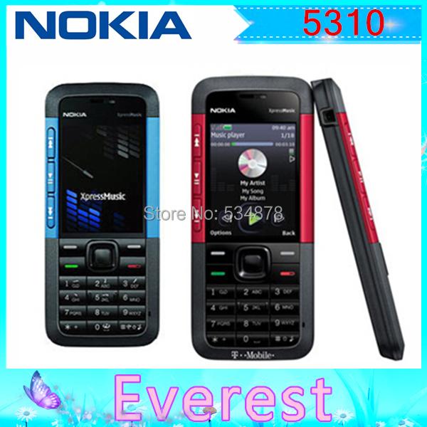 Original 5310 Nokia 5310 XpressMusic Bluetooth Java MP3 Player Phone Support Russian Keyboard Free shipping(China (Mainland))