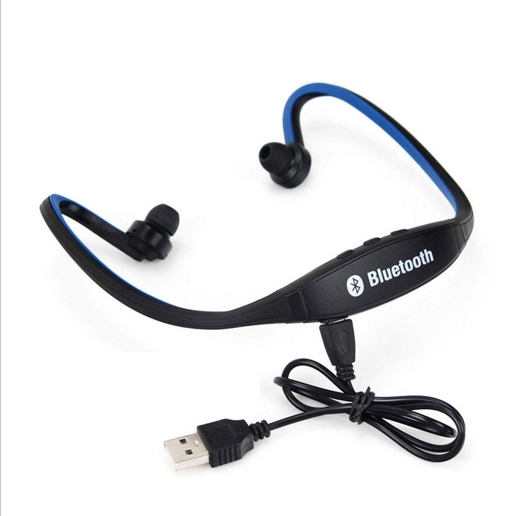 Bluetooth Wireless Sports Headset Stereo Headphone Earphone Handfree-Blue
