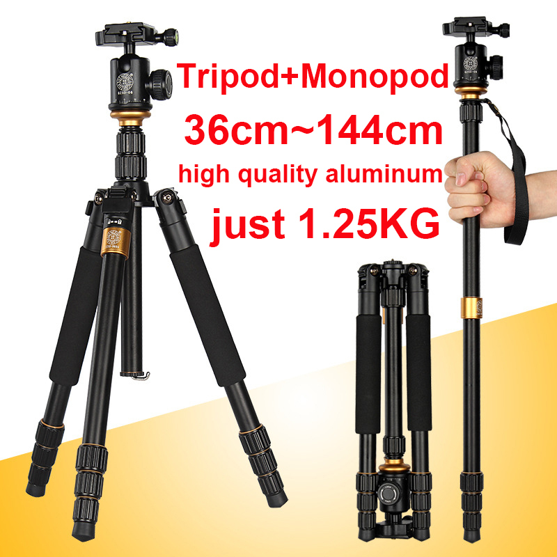 Здесь можно купить  Monopod for camera Tripod Professional Tripod for Camera Stand Tripode Tripe with Quick Release Plate Ball Head Panoramic Head  Бытовая электроника