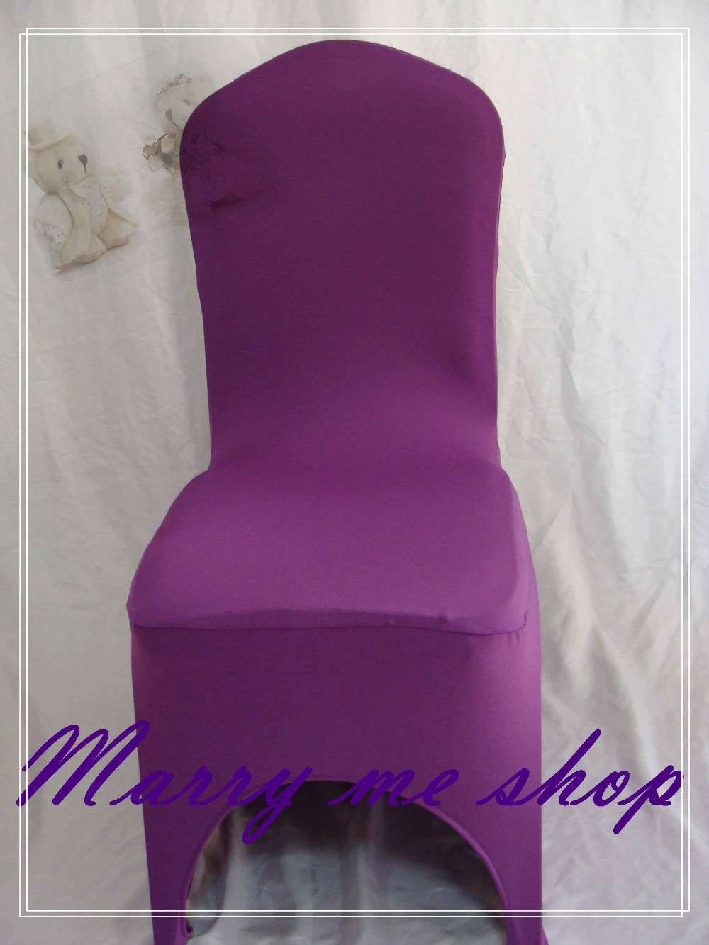 100 VIOLET Lycra Wedding Chair Covers Spandex Chair cover wedding Universal B