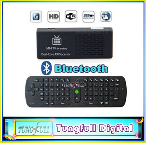 MK808B Bluetooth Android 4.1 Jelly Bean Mini PC RK3066 A9 Dual Core Stick TV Dongle 1pc MK808 Updated+1pcAir Mouse keyboard RC11(China (Mainland))