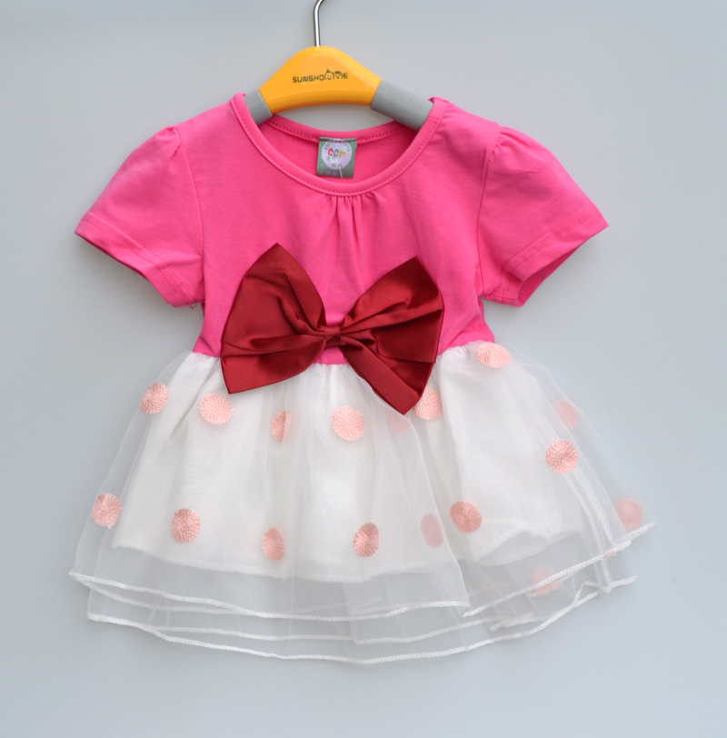 0-3Y New summer style baby dresses bowknot girl dress cute baby clothes christening dress baby girls princess dress(China (Mainland))