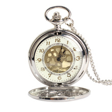 Vintage Large Gold Face Pocket Watch Necklace Women Men Quartz Pocket Watch(China (Mainland))