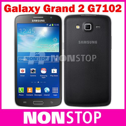 G7102 Original Samsung Galaxy Grand 2 Dual Sim 5.25inches Quad Core WIFI GPS Android Refurbished Smart Mobile Phones(China (Mainland))