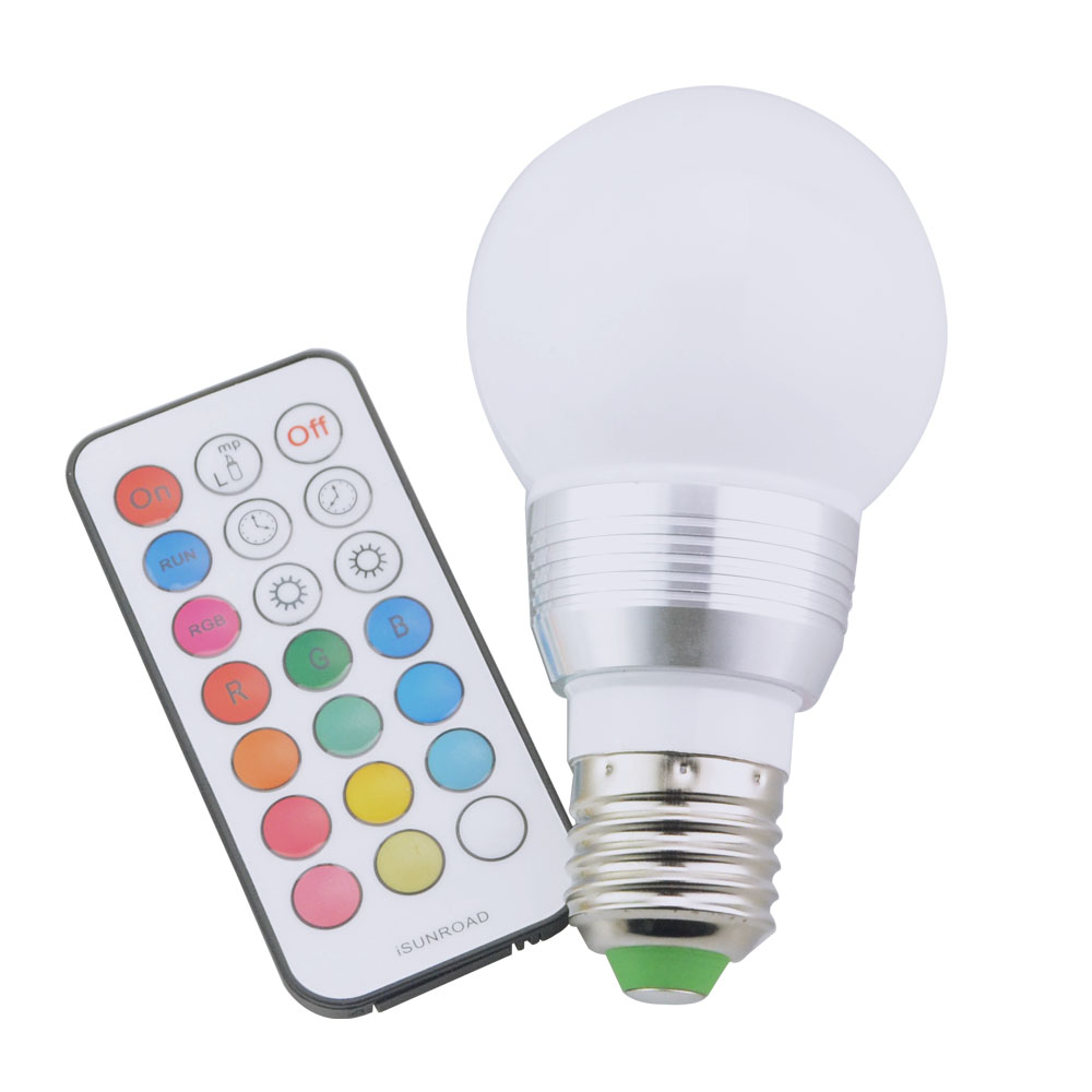 RGB LED Lamp E27 7W LED Spot Light With Timer Switch Remote Controller 16 Colors Change Lampada LED Party Colorful Lights 1PCS(China (Mainland))