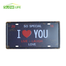 Buy So Special I Love You Vintage Car LicenseTin Sign Bar Pub Cafe Wall Decor Vintage Metal Sign Vintage Home Decor Wall Plaque for $4.96 in AliExpress store