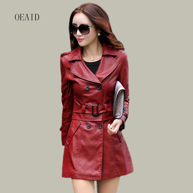 Popular Long Leather Jacket Women-Buy Cheap Long Leather Jacket ...