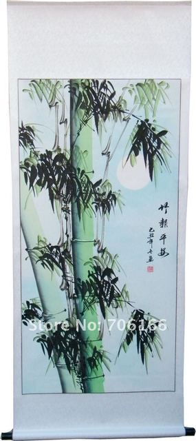 CHINESE canvas Art painting,Handmade classic bamboo paiting,170cm*70cm ,6 kinds of style can choose,including CPAM free shipping
