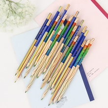 4 Pcs/Lot 4 In 1 Rainbow Colored Pencil Drawing Color Pencils For Drawing Pens Stationery Material Escolar School Supplies(China (Mainland))