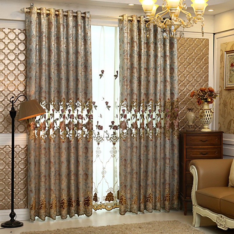 Fluttering Butterfly High Grade Embroidery Curtains For Custom Luxury Europea