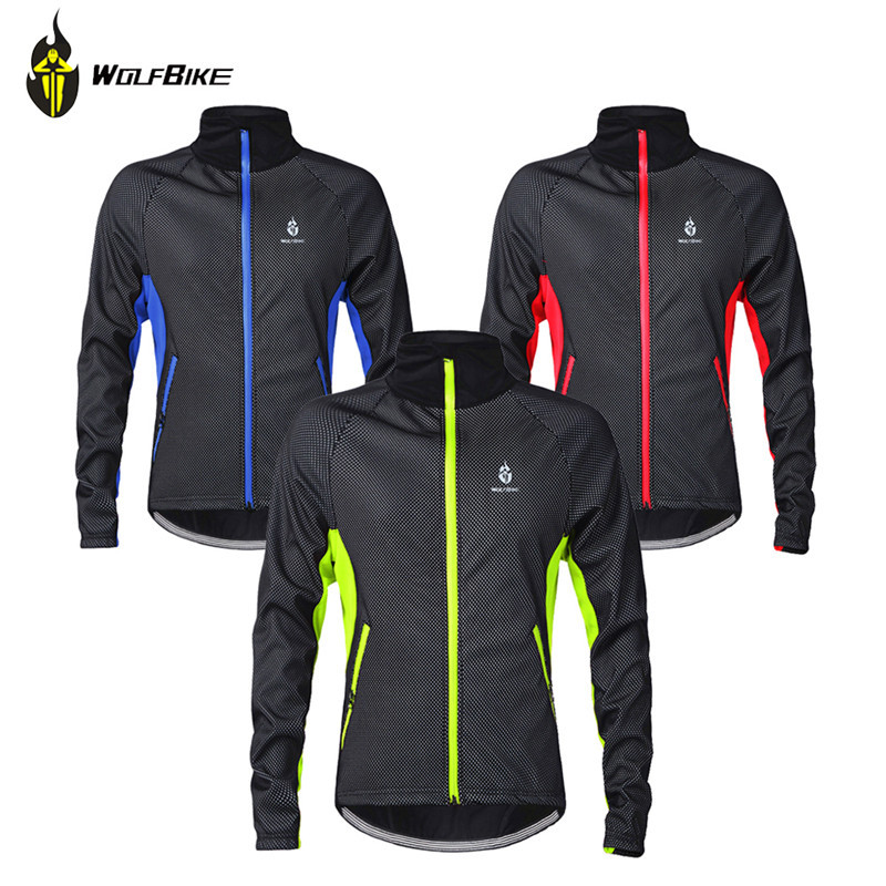 Wolfbike Winter Cycling Clothing Windproof Thermal Fleece Bike Bicycle Long Sleeve Cycling Jacket Ropa Ciclismo Invierno<br><br>Aliexpress