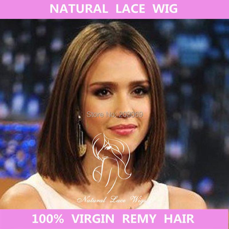 Free shipping Brazilian virgin hair Fashion Celebrity brazilian front lace wigs top selling short human hair wigs<br><br>Aliexpress