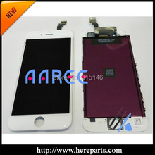 White color 5pcs/set + Free shippig  100% tested guarantee  for iPhone 6 LCD screen digitizer Assembly  frame Replacement