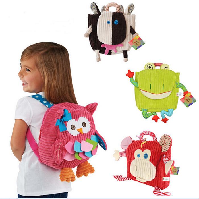 Cute kid school bag cartoon animal canvas backpack zoo backpack Mini School Bag children Backpacks mochila