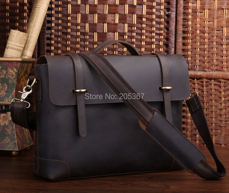 J.M.D Rare Genuine Cow Leather Products Best Briefcase Laptop Bags Leather Accessories For Men # 7082R-1(China (Mainland))