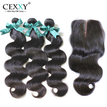 Cexxy Hair Brazilian Virgin Hair Body Wave With Silk Base Closure For A Full Head 4Pcs Lot ,Shipping Free By DHL(China (Mainland))