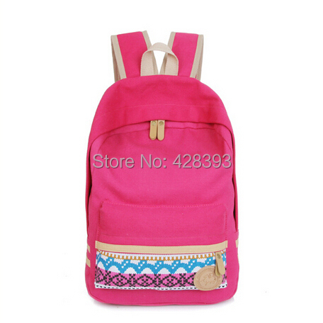 Unisex Canvas teenager School Fashion rucksack Women Backpack Leisure Bags retail 7 color - GZ China Trade Co., Ltd. store