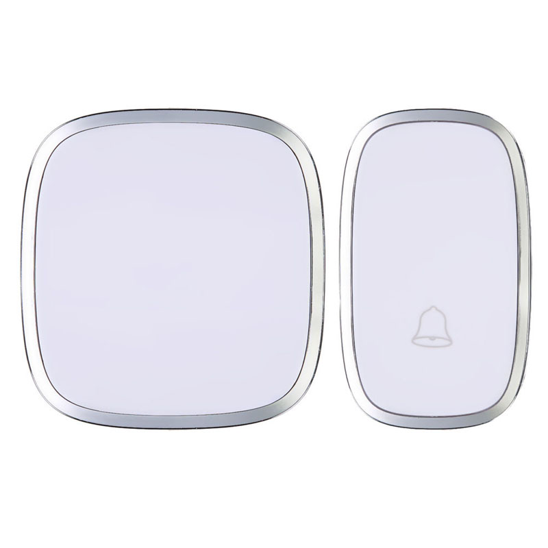 White Waterproof Wireless Doorbell Door Bell 36 Melody Home Smart Alarm FEN