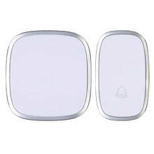White Waterproof Wireless Doorbell Door Bell 36 Melody Home Smart Alarm  FEN#