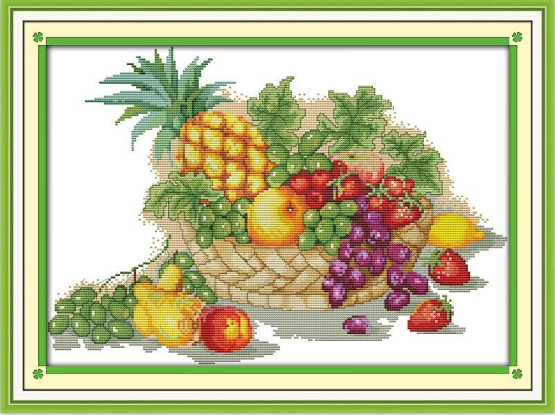 Схемы вышивок корзинка с фруктами