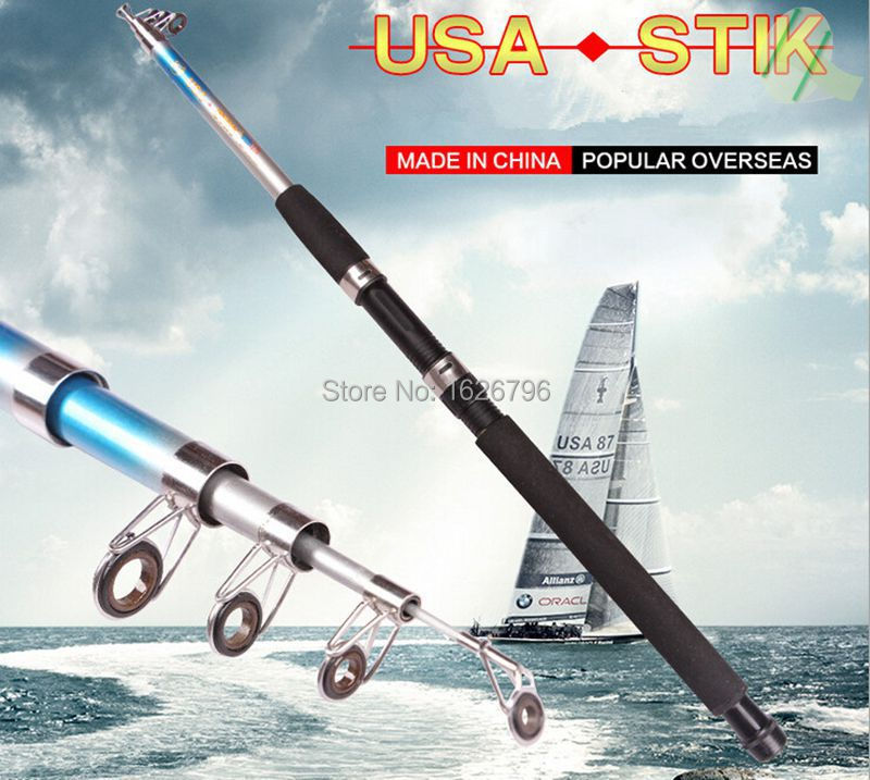 New usa stik superhard frp telescopic fishing rod made in for Fishing rods made in usa