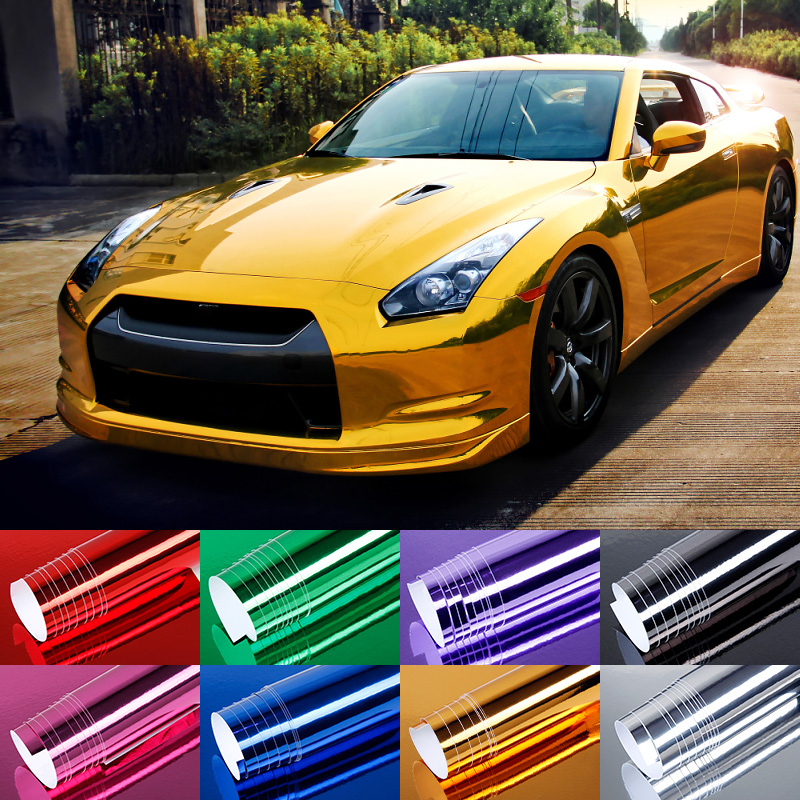 60x152cm High polymer PVC Film Car Stickers Waterproof Car Styling Wrap For Auto Vehicle Car accessories Motorcycle BE(China (Mainland))