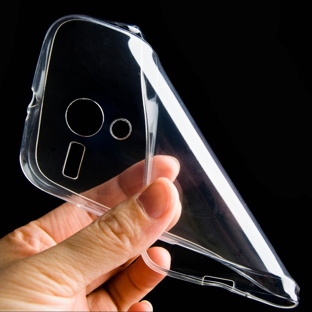 Hot!0.3mm Ultra Thin Clear Transparent Soft TPU Case for Motorola Moto G XT1032 back case cover(China (Mainland))