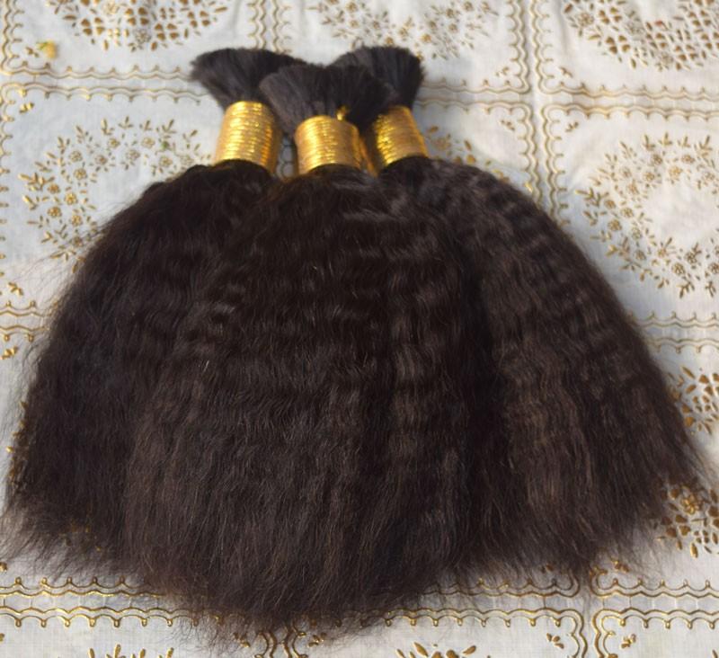 7A Malaysian Virgin Hair Human Braiding Hair Bulk For Braiding No Weft Crochet Braids with Human Hair for South Africa Women