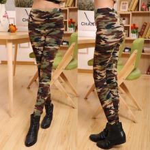 Spring-summer Women's Sport Leggings Fitness 2016 camouflage pants 100% cotton  leggins High Elastic  Free Shipping LG023(China (Mainland))