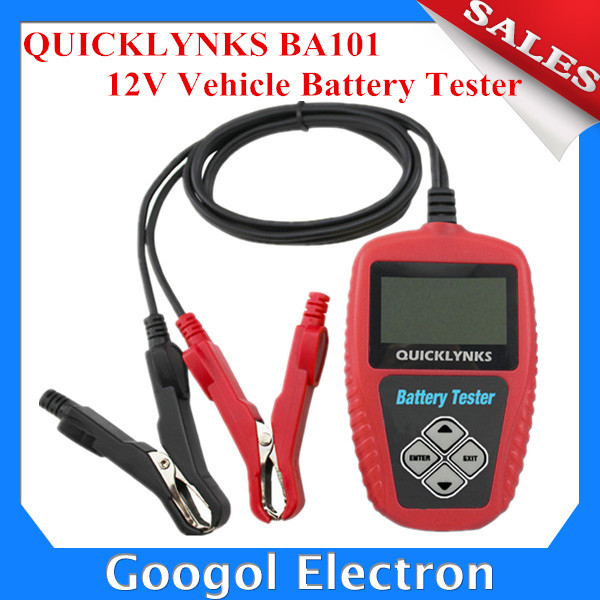 2015 New Arrival QUICKLYNKS BA101 Automotive 12V Vehicle Battery Tester Battery Analyzer Free Shipping(Hong Kong)