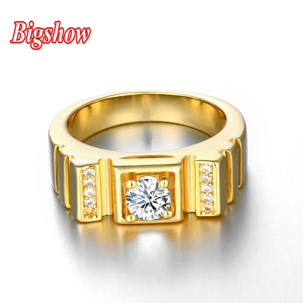 new arrival 24k real gold gold platinum plated ring