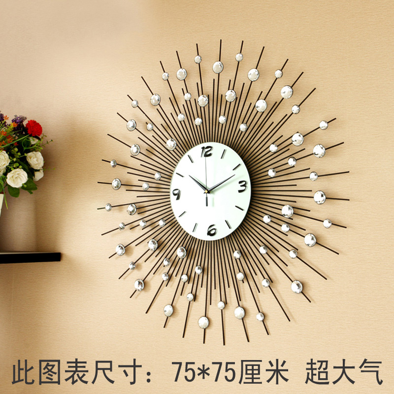 luxury large living room wall clock fashion e quartz