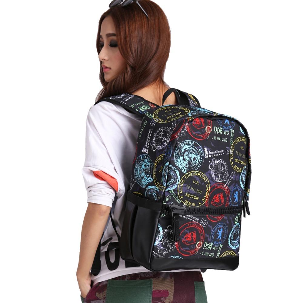 Bistar New Arrival 3D Geometric Figure Felt Backpack Women Waterproof Polyester Shoulders Bag For Unisex Stylish Design BBP129(China (Mainland))