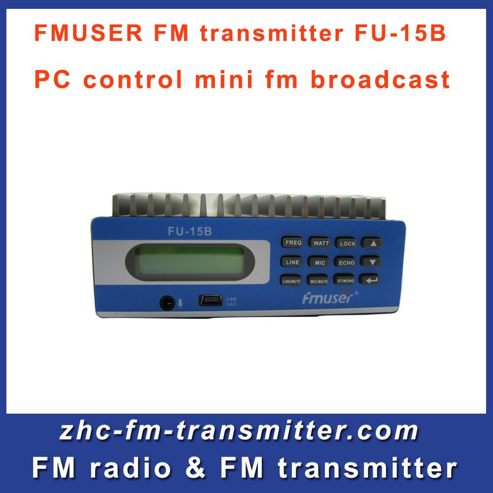Fmuser FU-15B fm audio transmitter PC Control broadcasting for fm radio station Free Shipping(China (Mainland))