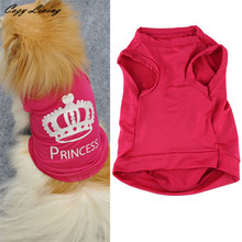 Buy 1 PC Pet Clothes Small Dog XS-L Fashion Pet Dog Cat Cute Princess T-shirt Clothes Vest Summer Coat Puggy Costumes D19 for $2.40 in AliExpress store