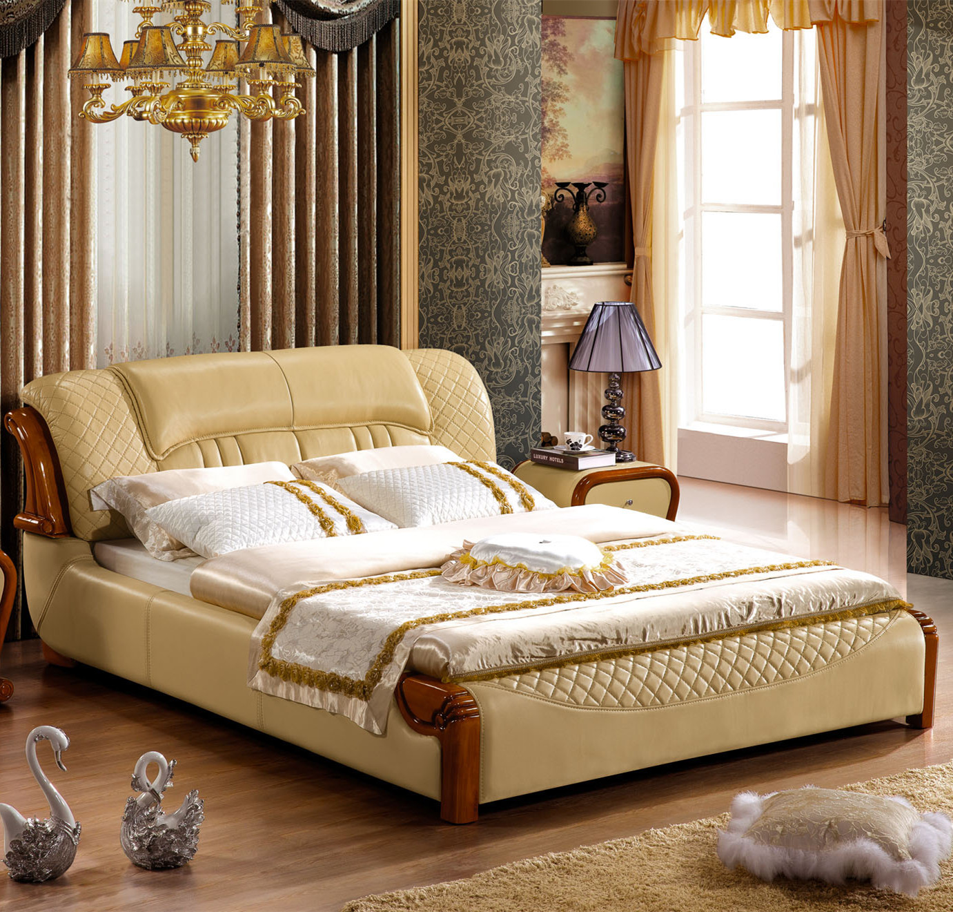 Bed continental bed bedroom furniture soft bed wholesale for Wholesale bedroom furniture