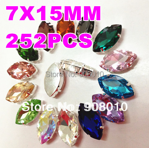 ifirstyle 580pcs 6x8mm 6x8mm teardrop Ifirstyle 252pcs 7x15mm , 4 , 7x15mm navette with claw setting