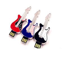 Creative Metal Gitar USB 2.0 Flash Drives External Storage Pendrives 64GB 32GB 16GB 8GB 4G Thumbdrive Card Stick Music Love Gift