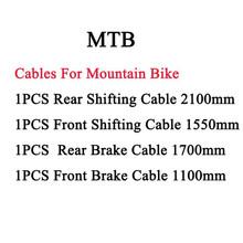 4 pçs galvanizado deslocamento & freio interno cabo fio conjunto para mtb bicicleta de estrada frente traseira desviador freio interno cabo conjuntos de fio(China)
