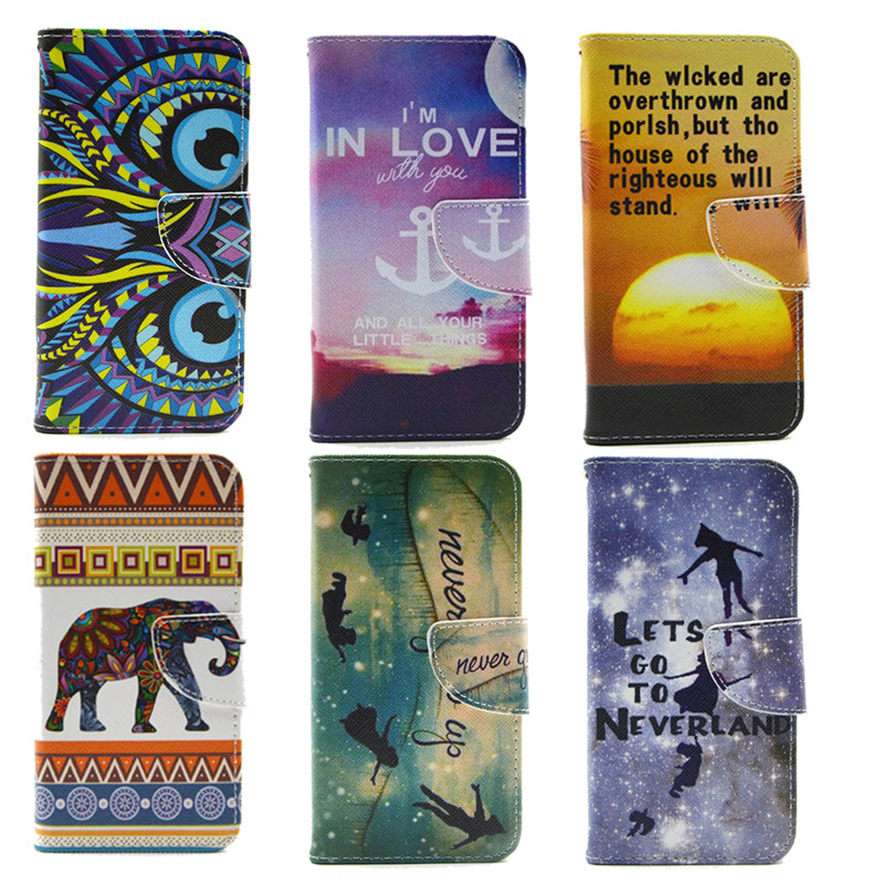 2016 Painted PU Leather Case For Coque Nokia Lumia 630 635 Stand Flip Wallet Cover Case For Funda Nokia N630 N635 Phone Bag Capa(China (Mainland))