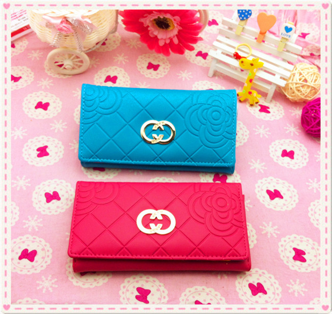 Leather Purse for Women New Desigh Leather Zip Wallet Purse Long Clutch Handbag Bag Vintage Ladies Woman For a Gift(China (Mainland))