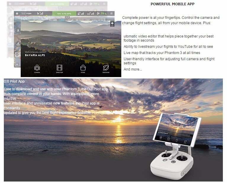 DJI Phantom 3 Advanced Quadcopter Drone With 1080P HD Camera GPS RC Quadcopter RTF In stock