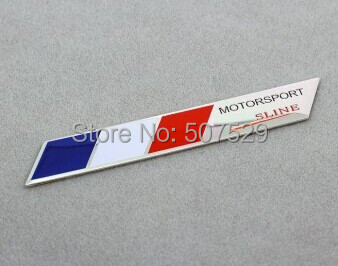Freeshipping FR French France flag S line Motorsport Emblem Badge Sticker Aluminum Car styling Fit For Peugeot 301 308 408 608(China (Mainland))