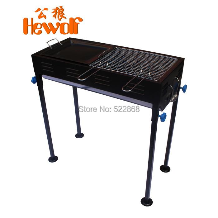 Здесь можно купить  Hewolf outdoor grill thick folding portable barbecue stove / box of household charcoal stove  Спорт и развлечения