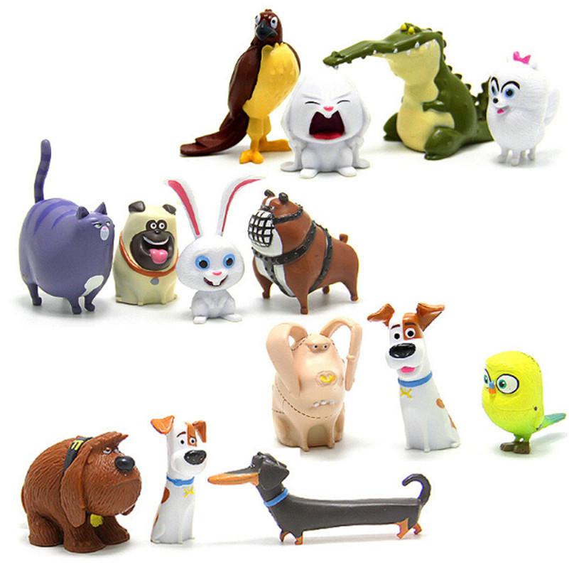 14pcsset cartoon movie the secret life of pets pvc action