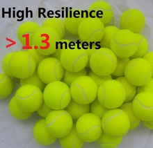 Wholesale 3pcs Brand New High Resilience 1.3meters Tennis Ball Durable Tranning Exercise Practice Tennis Ball Fast Free Shipping(China (Mainland))